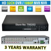 32 Channel Surveillance Digital Video Recorder H.264 32CH DVR 1080P NVR 3G HDMI
