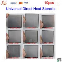 Free shipping!! 10 pcs/set Universal Direct Heat BGA Reballing Stencils 0.25, 0.3, 0.35, 0.4, 0.45, 0.5, 0.55, 0.6, 0.65, 0.76mm