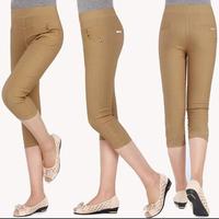 Plus Size Casual  Capri Pants Womens Summer New Hot Cropped Trousers Fashion Elasticity Pencil Pants XXL XXXL  Free Shipping