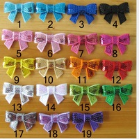 """2014 new 1.5"""" mini sequin bows 19colors all have 150pcs/lot  free shipping"""