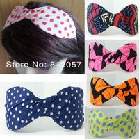 12pc cute Fashion women girl's classic bow Headband dot Alice band Hair accessories