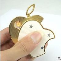 2014 new arrival  Apple electronic cigarette lighter USB charging lighter creative lighter for Men's gift Free shipping