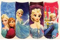 New 2014 Baby Girls Frozen Socks Girls cartoon Frozen socks Child Kids Frozen Socks 4pair/lot fit childrens Free shipping X905
