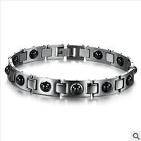 JEWELRY Energy Balance Health Care Bracelet Unisex With Magnetic Stones Fashion Stainless Steel Tourmaline Bracelets & Bangles