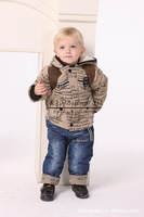 Hot Sale Boys Winter Clothing Set Kids Outfit Letter Jacket And Cotton Pants Suits For Children Free Shipping