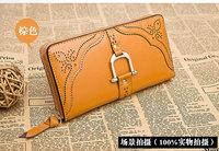 vintage hollow Cowhide women's handbag new design brand women clutch leather long Purse evening clutch women wallets WWLCL01330