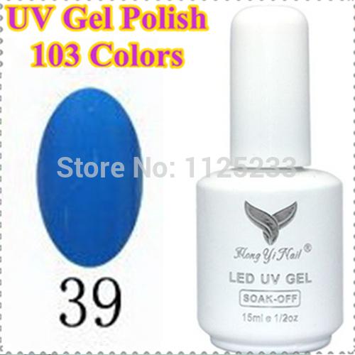 (NO. 039) Hot Sale 2014 New 15ml Soak off Nail Art UV Gel Polish 103 COLOR Lacquer Long Lasting Glue FREE SHIPPING(China (Mainland))
