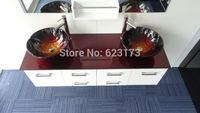 2014 new style red sky bathroom glass vessel sink