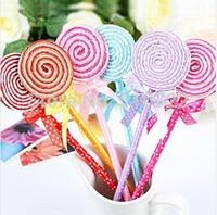 Free Shipping 12PCS/LOT Korea Stationery Cute Lovely Lollipop Style Ball Pen