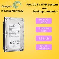 "Free Shipping New 3000gb Seagate 3.5"" inch Hard disk 3TB 7200rpm 64MB SATA Internal HDD for Desktop DVR recorder CCTV system"