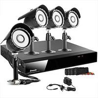 Zmodo 8 CH Channel DVR 4 Outdoor 600TVL CCD CCTV Surveillance Security Camera System