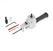 Black Silver Tone Metal Plastic Power Drill Nibbler Metal Sheet Saw Cutter Tool