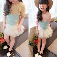 2014 Summer Children's Long Sleeved Girls Dresses For Girl