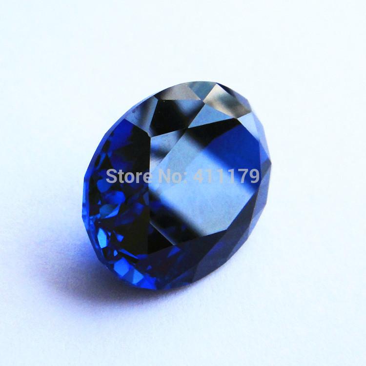 wholesale Tanzania Blue Synthetic Corundum sapphire loose gemstone pendant & necklace & rings oval shape Heart of Ocean gems(China (Mainland))