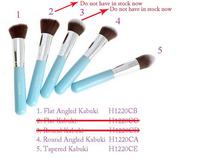 sky blue silver Pro Foundation blush Liquid brush Kabuki Makeup Brush Set Cosmetics Tool Round brush H1220CD Alishow