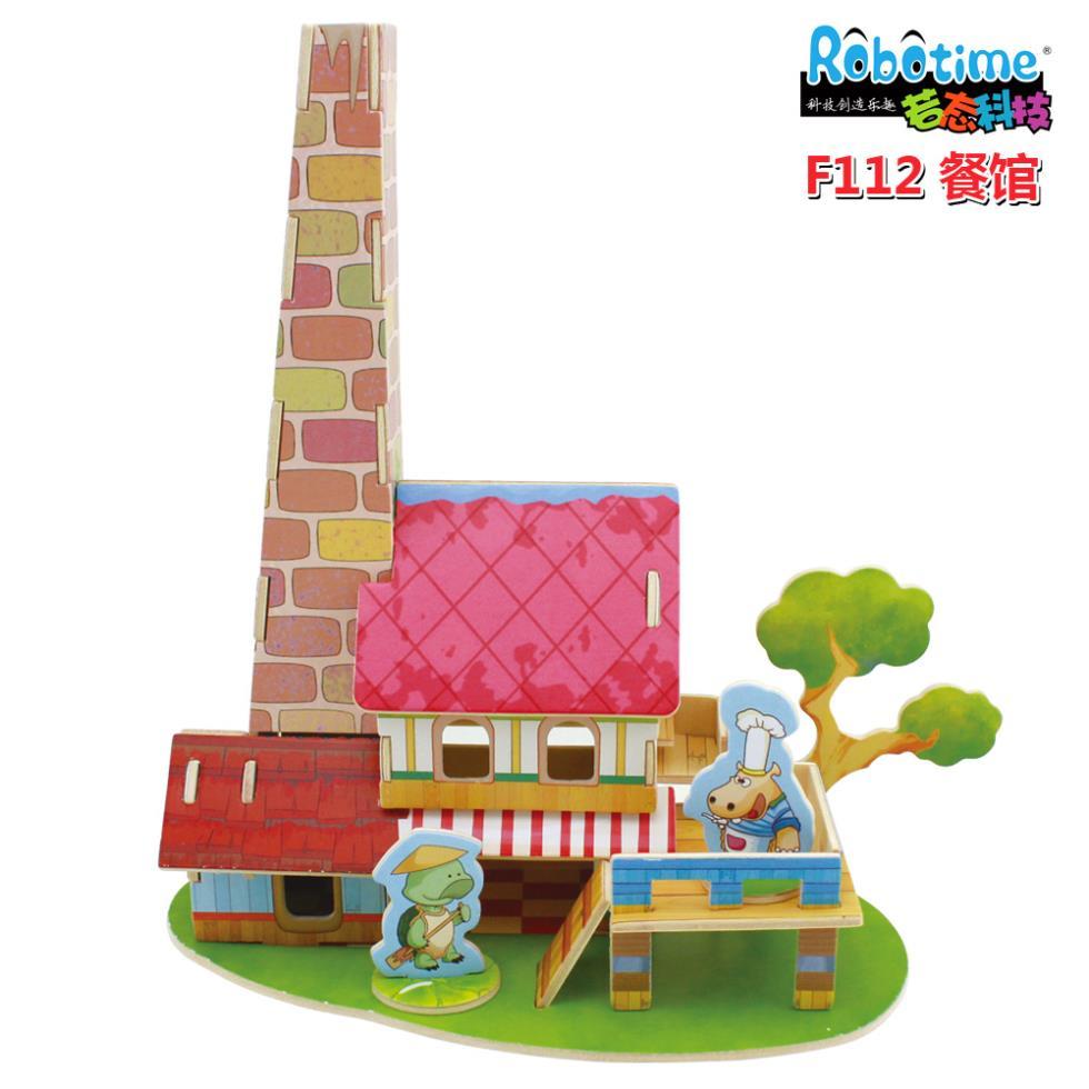 Wooden house model igloo diy craft F112 villa restaurant(China (Mainland))