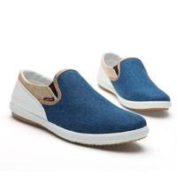 British style Fashion men's Sneakers Eu 39-44 Linen Woven Patchwork men's Flats 2014 New Breathable Leisure men's Shoes RM-316
