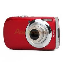 3.0″ LCD TFT Max 16MP Interpolation 5X Optical Zoom Digital Camera – Red#2100256
