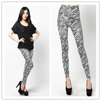 Free Shipping New Arrived Fashion  Zebra Stripes High Elasticity Sexy Leggings For Women LSK-16