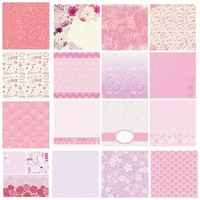 8x8 Specialty Cardstock 36 Sheets (18 Designs) for Scrapbooking - Sugar & Spice
