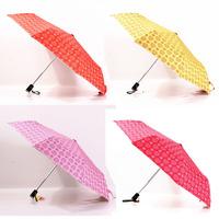 2014 free shipping fashion women's automatic three folding umbrella beach umbrella rain women Rechar022