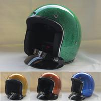 glass fiber casco capacetes personalized open face adult glass fiber vintage motorcycle helmet jet retro scooter pilot helmets