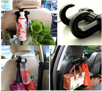 20pcs Convenient 2 in 1 Double Vehicle Hanger Auto Car Seat Headrest Bag Hook Holder motor Clip for bags/drinks