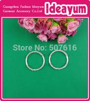 round shape rhinestone buckles for wedding invitations Free Shipping