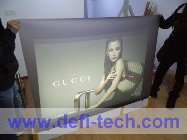 30m * 1.5m Self adhesive transparent rear projection film(China (Mainland))