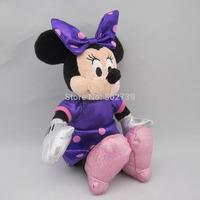 Stock toys original TY Beanie Babies purple sparkle 8' Minnie Mickey mouse plush toys stuffed toys plush toys doll