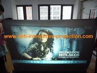 NEW ARRIVE! Holographic rear projection Ultra black screen, it can be used for window fashion advertise display