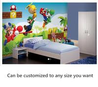Free shipping custom wallpaper murals  Mario Wallpaper Mural