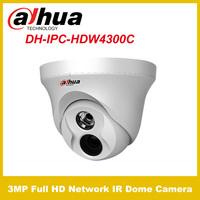 Original Dahua IPC-HDW4300C  3Megapixel Full HD Network IR Mini Dome Camera 1080P H.264 POE ONVIF CCTV Cameras OFF IP66