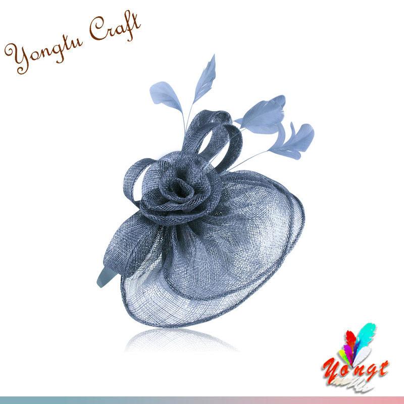 Hot Selling Grey Fascinator /Sinamay Flower Fascinators For Wedding/Hair Accessory/Party/Bridal HK14505(China (Mainland))