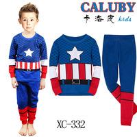 Free shipping/baby pajamas/Night suit/Sleepwear/CALUBY brand/Great quality/100%cotton/2Y-3Y-4Y-5Y-6Y-7Y/6sets per lot