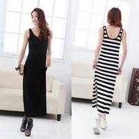 2014 New Arrive Free Shipping Fashion Women basic modal ultra elastic full dress length sleeve one-piece dress