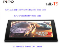PiPO T9 OCTA CORE Phone Tablet PC MTK6592 8.9 Inch FHD Screen 1920x1200 GPS Dual cameras built-in 3G Bluetooth 2GB RAM 32GB