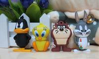 New Hot 4pcs togerther cartoon rabbit/lion /duck/bird usb 2.0 memory stick flash drive pen drive