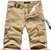 Hot sales Summer men's casual Cargo Shorts Mens Sport beach shorts add fertilizer XL five Division free shipping