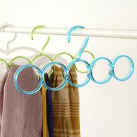 Free shipping 3pcs/lot High quality eco-friendly 5-hole Ring Rope Slots Holder Hook Scarf Wraps Shawl Storage Hanger Organizer
