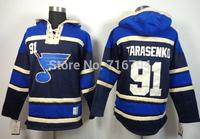 NHL Hoodie 2014 Cheap St. Louis Blues #91 Vladimir Tarasenko #16  Brett Hull Blue Old Time Hockey Hooded Free Shipping