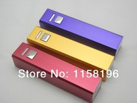 Newest Colorful Mobile Power Bank 2600mAh External Emergency Battery Pack Output 5V 1A For Mobile Phone Game Player 100pcs/lot