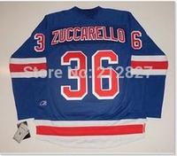 Free shipping wholesale hockey Jerseys New York Rangers 36 ZUCCARELLO Blue hockey Jerseys