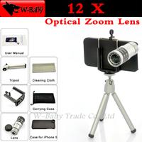 10x Optical Zoom lens for iPhone lens Telescope camera for iPhone 5s iPhone5 mobile phone lens,with tripod/case,1 pcs