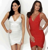 New 2014 Bandage Dress 2 Colors Plus Size XS-XL Party Evening Nightclub Women Work Wear Bodycon Novelty Sexy Casual Women Dress