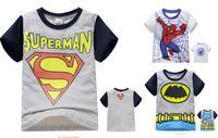 New baby boys Tops Shirts boys summer T shirt super hero size:( 2-8 years )