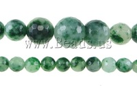 Free shipping!!!Natural Moss Agate Beads,Bulk Jewelry, Round, faceted, 6-14mm, Hole:Approx 0.8-1.5mm, Length:17 Inch