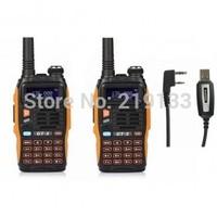 2x 2014 Baofeng GT-3 FM Two-way Radio Talkie Walkie+1x Programme Cable