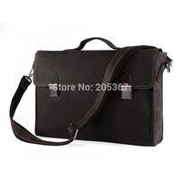 Classic  Briefcase Genuine Cow Leather Men's  Laptop Handbag Messenger Bag Leather Products #7155R