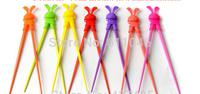 Kid Baby Beginner Cartoon Style Easy Fun Learning  Helper Chopsticks Random Color